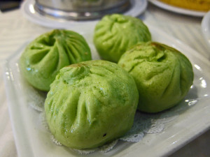 Spinach Pork Buns at Sea Harbour in Rosemead. Photo by Kirk K