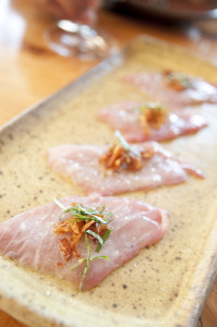 California Yellowtail sashimi. Photo by Yuichi Sakuraba