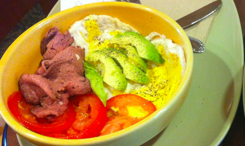 power egg bowl with steak
